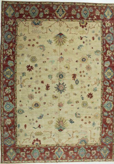 Ivory Sultanabad Rug #671 • 10′6″ x 14′8″ • 100% Wool