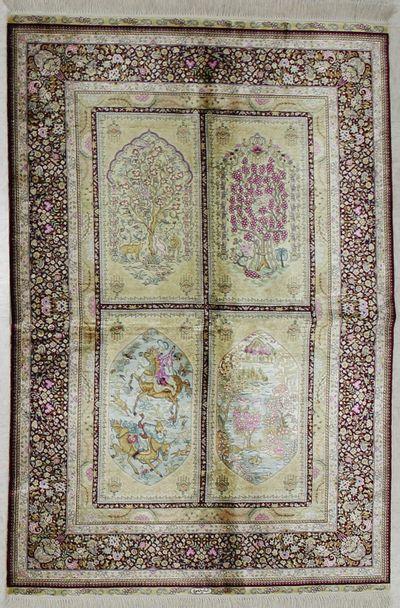 Ivory Cezaevi Rug #1809 • 4′1″ x 6′1″ • 100% Silk
