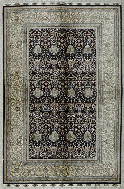 NAVY Cezaevi Rug #8221 • 4′0″ x 6′5″ • 100% Silk