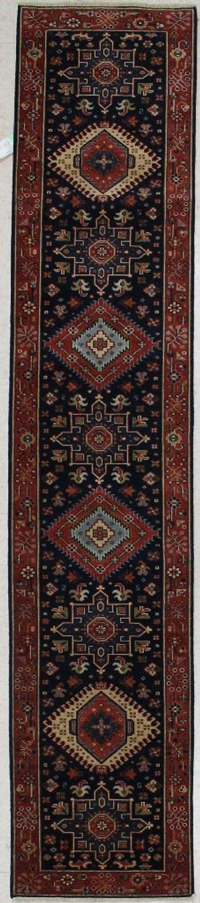 NAVY Serapi Rug #7520 • 2′0″ x 10′0″ • Wool on Cotton