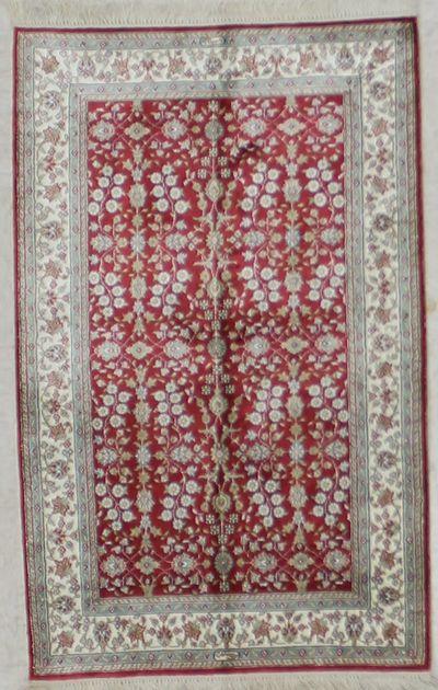 Red IMZALI Rug #2635 • 2′7″ x 4′0″ • 100% Silk
