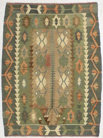 Olive Green Kayseri Rug #1622 • 2′11″ x 4′0″ • 100% Wool