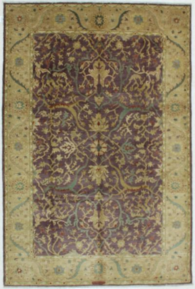 Purple Karaman Rug #604 • 5′11″ x 8′11″ • 100% Wool