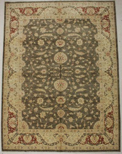 Gray Ushak Rug #8422 • 9′2″ x 12′0″ • 100% Wool