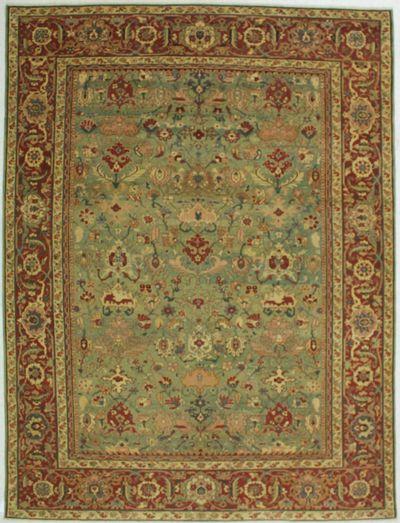 Green Sivas Rug #519 • 8′11″ x 11′11″ • 100% Wool