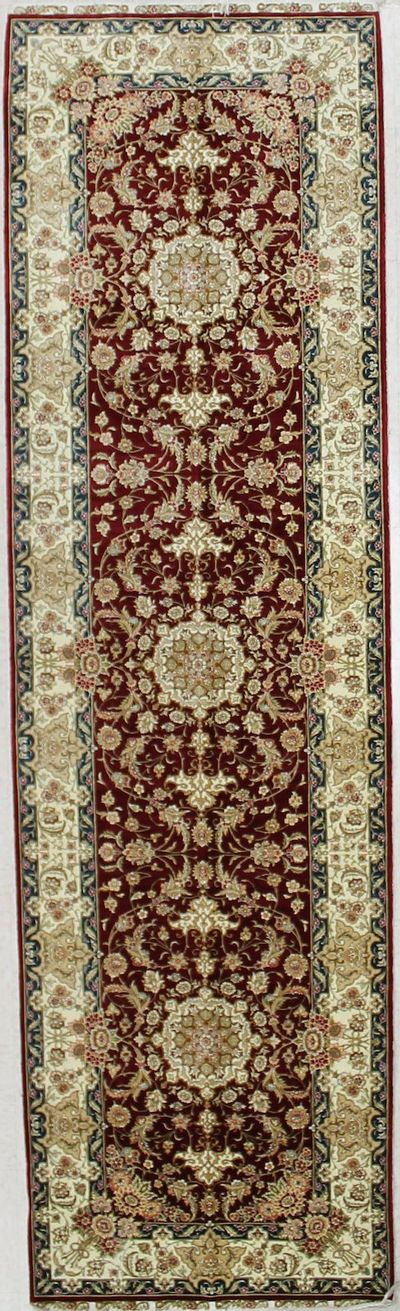 Red Cezaevi Rug #2588 • 2′11″ x 9′11″ • 100% Silk