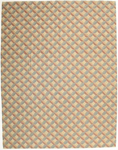 Ivory Modern Rug #1474 • 9′1″ x 11′11″ • Wool on Cotton
