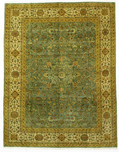 Light Blue Tabriz Rug #937 • 7′0″ x 9′1″ • Wool on Cotton