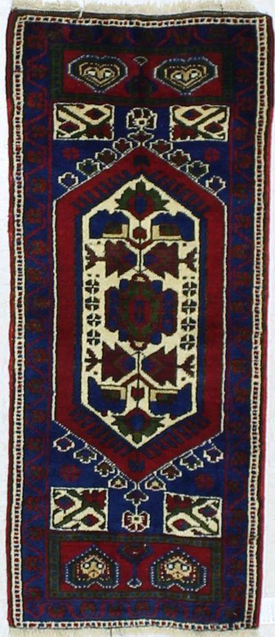 Red Konya Rug #896 • 1′9″ x 4′1″ • 100% Wool