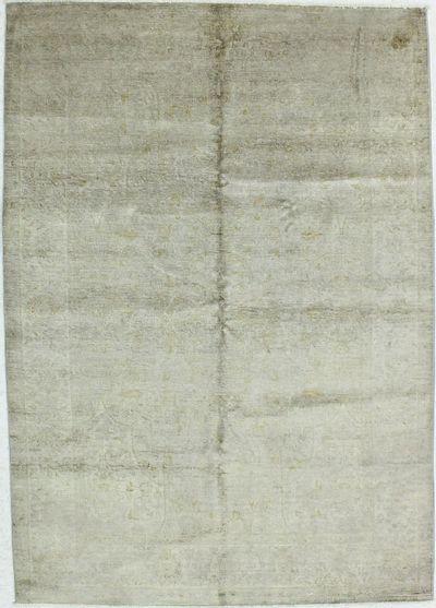 Gray Contemporary Rug #1273 • 5′6″ x 7′9″ • 100% Silk