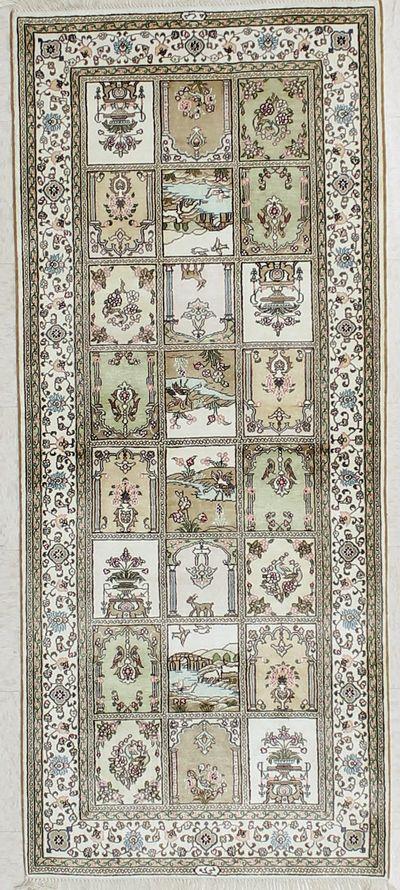 Ivory IMZALI Rug #2283 • 2′6″ x 6′0″ • 100% Silk