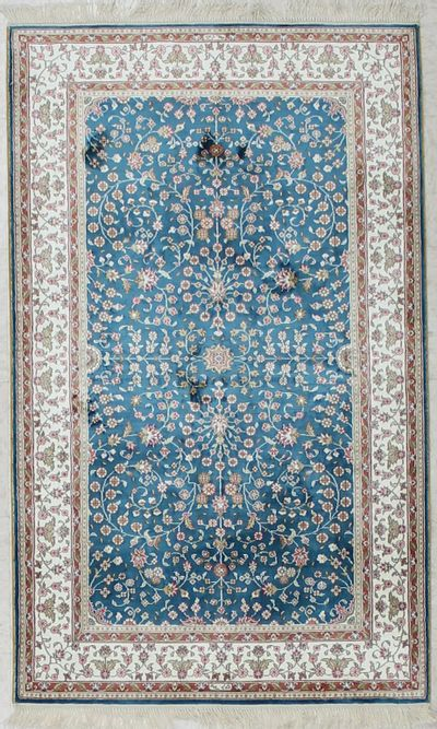 Blue IMZALI Rug #2648 • 3′1″ x 5′1″ • 100% Silk