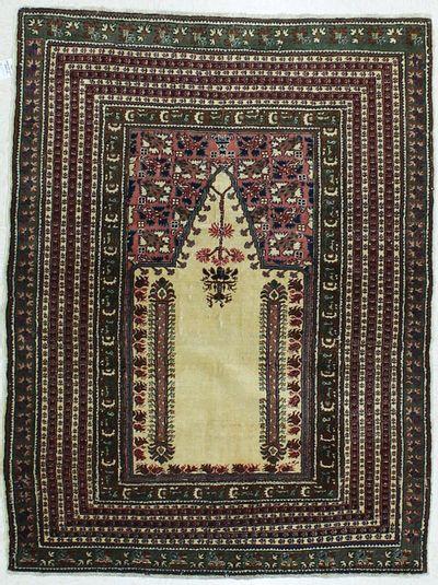 Green Kayseri Rug #426 • 4′2″ x 5′5″ • Wool on Cotton