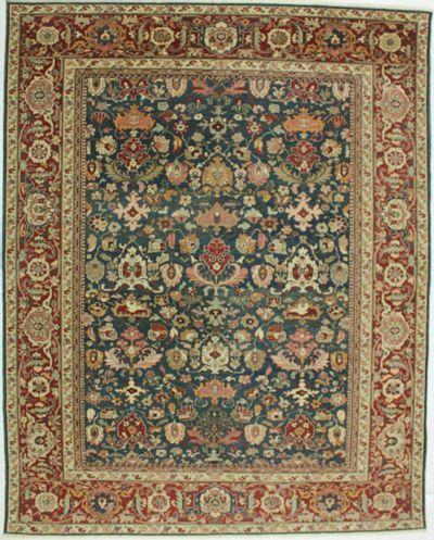 Blue Sivas Rug #599 • 9′3″ x 11′7″ • 100% Wool
