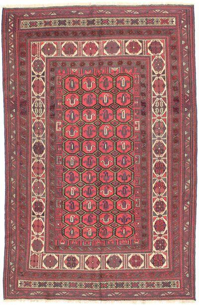 Red Beluch Rug #1718 • 6′2″ x 9′5″ • 100% Wool