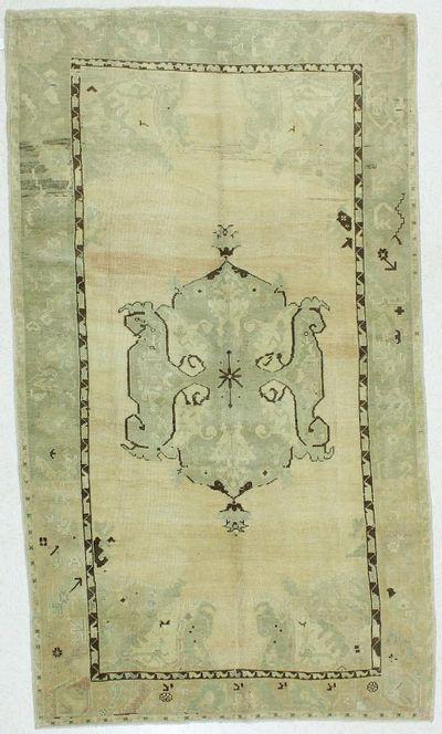 Ivory Konya Rug #100 • 5′5″ x 9′6″ • 100% Wool