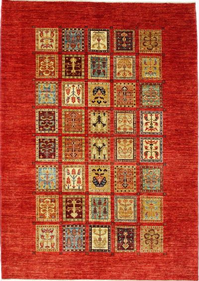 Multicolor Ushak Rug #8213 • 5′8″ x 7′11″ • 100% Wool