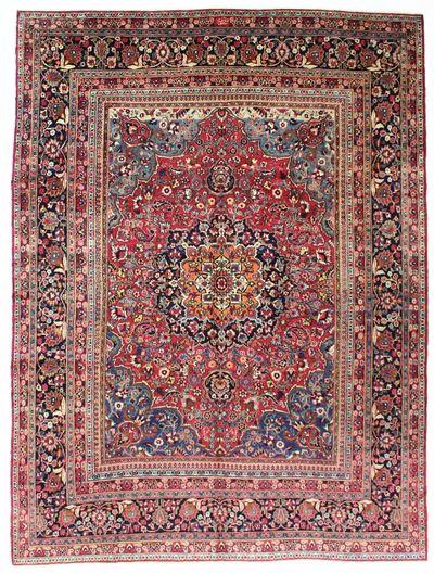 BURGUNDY Tabriz Rug #8735 • 8′6″ x 11′5″ • Wool on Cotton