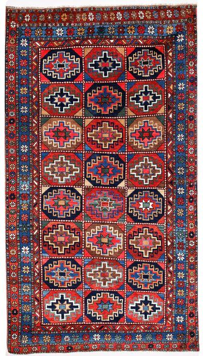 Red Caucasian Antique Rug #620 • 4′4″ x 7′7″ • 100% Wool