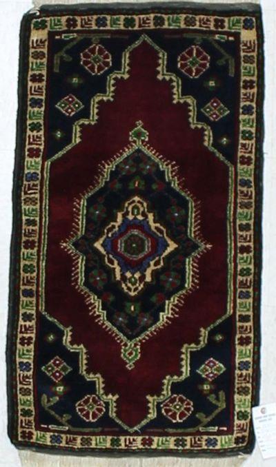 Red Konya Rug #909 • 1′8″ x 3′1″ • 100% Wool