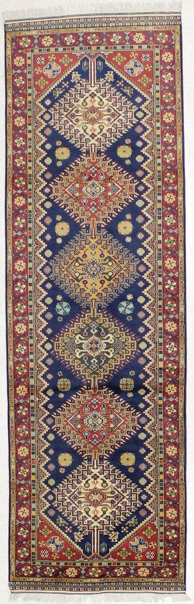 NAVY Kazak Rug #1737 • 3′2″ x 10′4″ • 100% Wool
