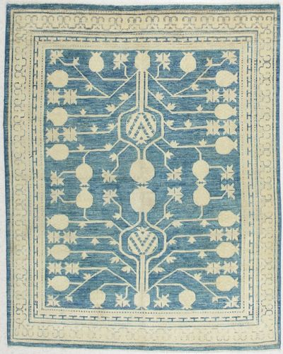 Blue Kothan Rug #6549 • 5′0″ x 6′4″ • Wool on Cotton