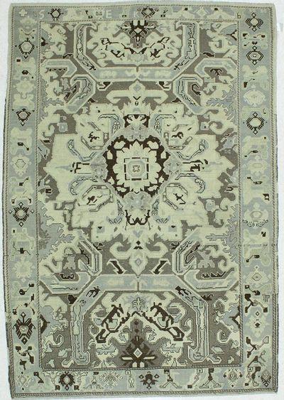 Ivory Konya Rug #41 • 6′2″ x 8′9″ • 100% Wool