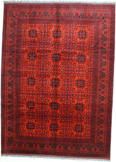 Red Kunduz Rug #473 • 8′7″ x 11′7″ • 100% Wool