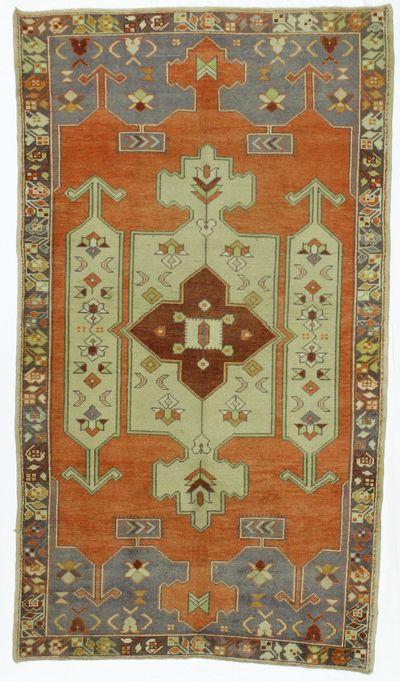 Rust Konya Rug #7899 • 4′5″ x 7′10″ • 100% Wool