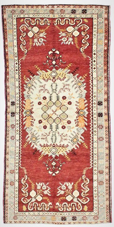 Red Konya Rug #52 • 3′4″ x 6′10″ • 100% Wool