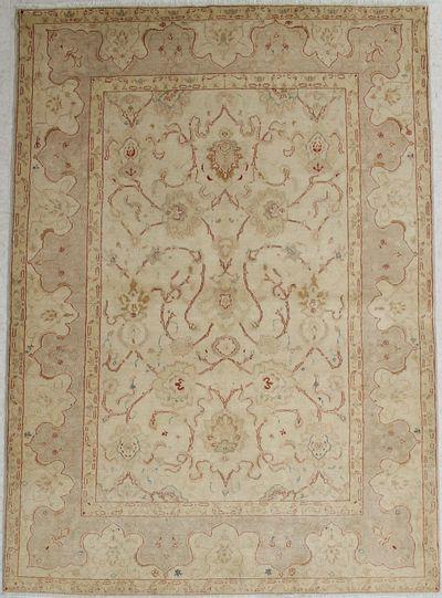 Ivory Karaman Rug #1462 • 5′6″ x 7′9″ • Wool on Cotton