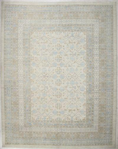Ivory Kothan Rug #2402 • 9′4″ x 11′11″ • 100% Wool