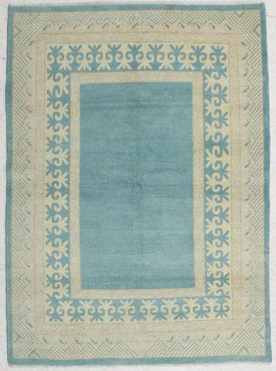 LT BLUE Kothan Rug #6548 • 4′8″ x 6′9″ • Wool on Cotton