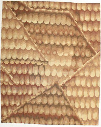 Ivory Modern Rug #1470 • 8′2″ x 10′2″ • Wool on Cotton