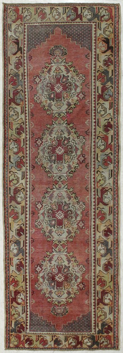 Rust Konya Rug #7993 • 3′3″ x 9′7″ • 100% Wool