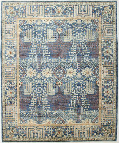 Blue Ariana Rug #2432 • 8′2″ x 9′10″ • 100% Wool