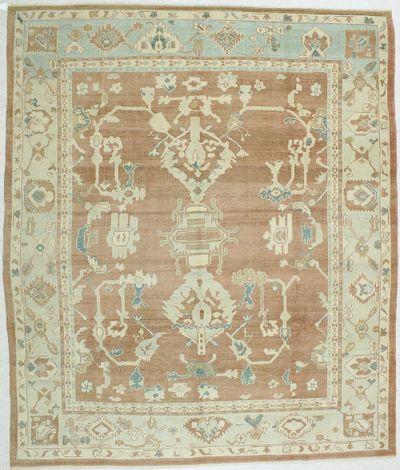 Rust Ushak Rug #24 • 9′2″ x 11′0″ • 100% Wool