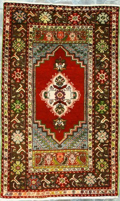 Red Konya Rug #8551 • 3′7″ x 5′9″ • 100% Wool