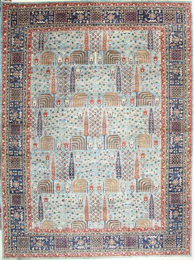 Light Blue Ottoman Rug #2169 • 9′10″ x 13′7″ • 100% Wool