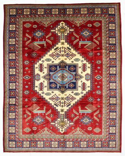 Red Kazak Rug #637 • 8′6″ x 10′8″ • 100% Wool