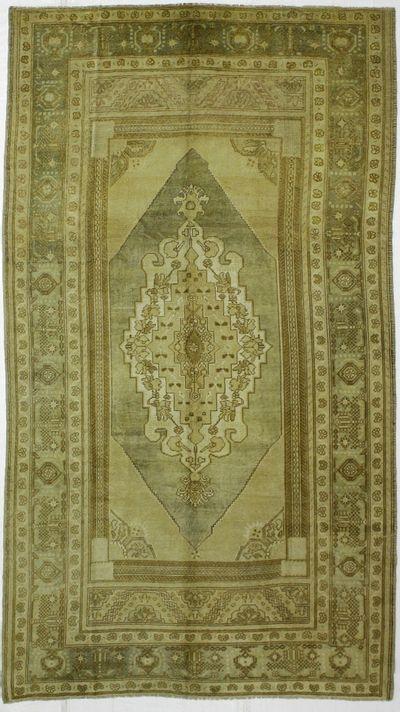 Ivory Konya Rug #2555 • 5′8″ x 10′0″ • 100% Wool