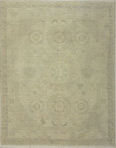Ivory Kothan Rug #7561 • 8′0″ x 10′2″ • Wool on Cotton