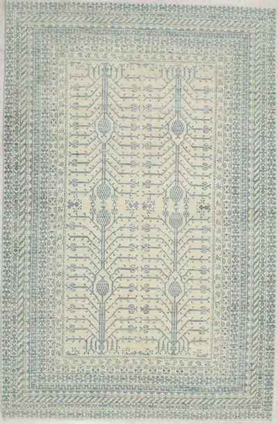 Ivory Kothan Rug #7185 • 5′9″ x 8′9″ • 100% Wool