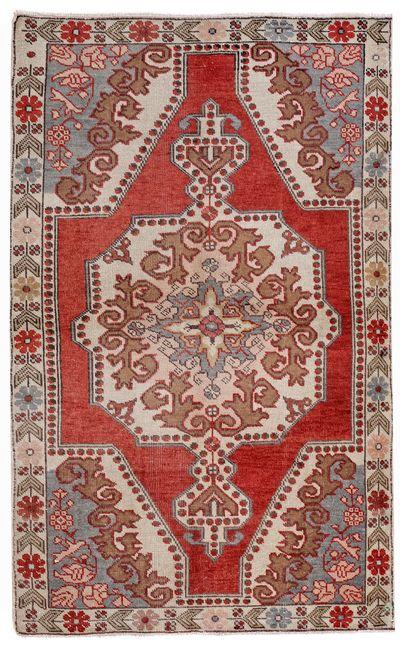 Red Konya Rug #191 • 4′7″ x 7′7″ • 100% Wool