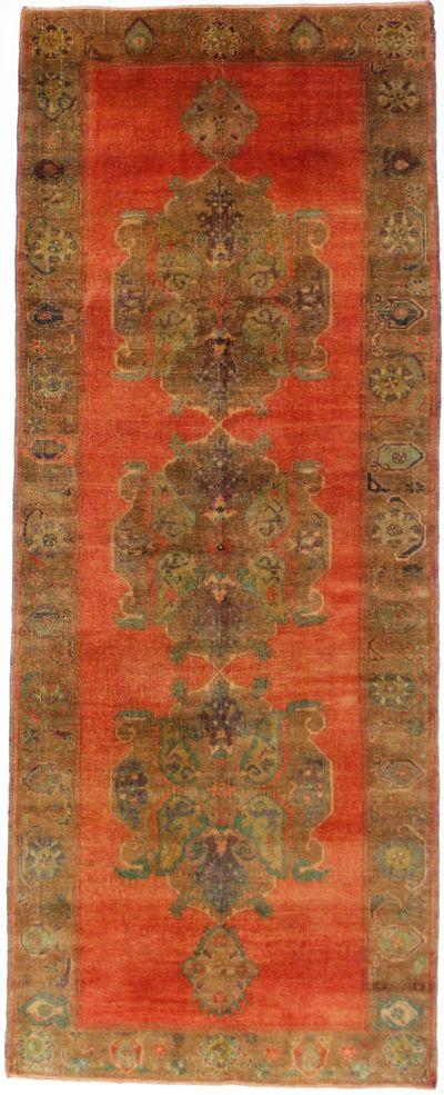 Red Konya Rug #7958 • 4′7″ x 11′8″ • 100% Wool