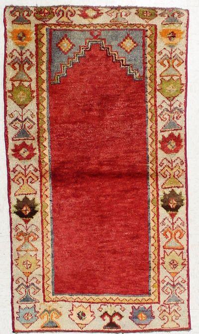 Red Konya Rug #2678 • 2′5″ x 4′4″ • 100% Wool