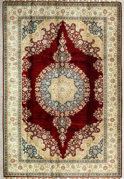 Red Cezaevi Rug #2033 • 6′6″ x 10′0″ • 100% Silk