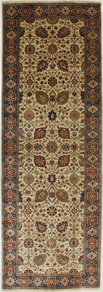 Ivory Tabriz Rug #2315 • 4′1″ x 11′10″ • 100% Wool