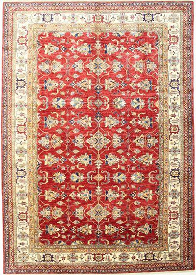 Red Kazak Rug #2459 • 8′11″ x 12′8″ • 100% Wool