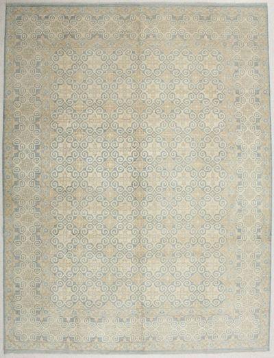 LT BLUE Kothan Rug #6520 • 8′11″ x 11′9″ • Wool on Cotton